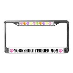 Yorkshire Terrier Mom License Plate Frame
