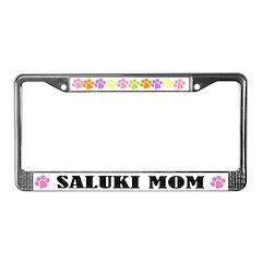 Saluki Mom Pet License Plate Frame