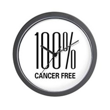 100% Cancer Free Wall Clock