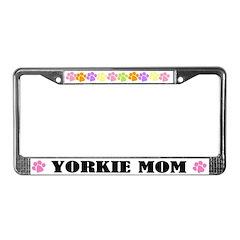 Yorkie Mom Pet License Plate Frame