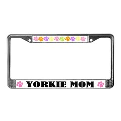 Yorkie Mom Pet License Plate Frame