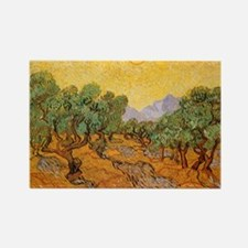 Van Gogh Olive Trees Yellow Sky And Sun Rectangle