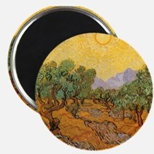 """Van Gogh Olive Trees Yellow Sky And Sun 2.25"""" Magn"""