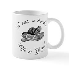 A Cat, A Book Mug
