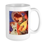 Mandolin / Scottie (w) Large Mug