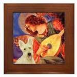 Mandolin / Scottie (w) Framed Tile