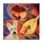 Mandolin / Scottie (w) Tile Coaster