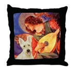 Mandolin / Scottie (w) Throw Pillow