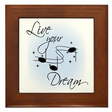Live Your Dream Framed Tile