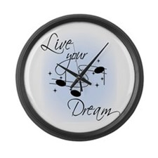 Live Your Dream Large Wall Clock