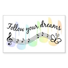Follow Your Dreams Rectangle Decal