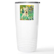Irises / Scottie (w) Travel Mug