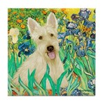 Irises / Scottie (w) Tile Coaster
