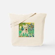 Irises / Scottie (w) Tote Bag