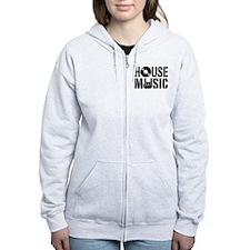 House Music Zip Hoodie