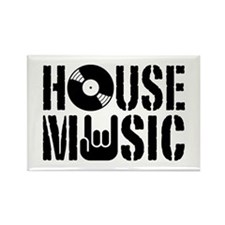 House Music Rectangle Magnet