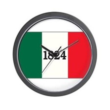 """FLAG OF THE TEXAS ALAMO"" Wall Clock"