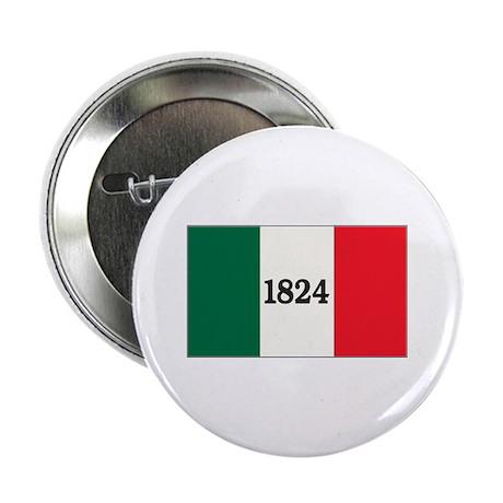 """""""FLAG OF THE TEXAS ALAMO"""" 2.25"""" Button"""