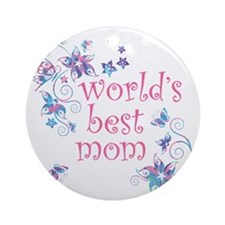 World's Best Mom Ornament (Round)