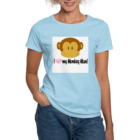 I love my Monkey Man! Women's Light T-Shirt