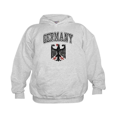 Germany Black Eagle Kids Hoodie