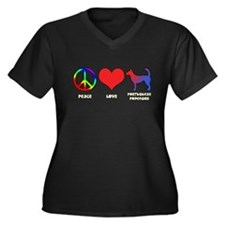 Peace Love Wire Podengo Women's Plus Size V-Neck D