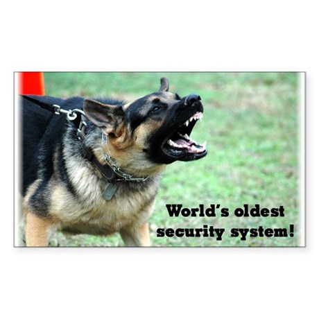 Oldest Security System Rectangle Sticker
