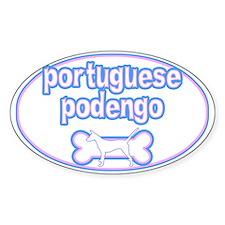 Powderpuff Portuguese Podengo Oval Decal