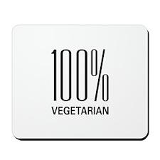 100% Vegetarian Mousepad