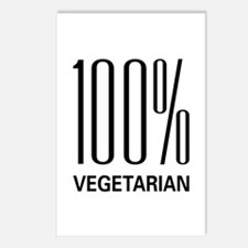 100% Vegetarian Postcards (Package of 8)