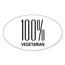 100% Vegetarian Oval Decal