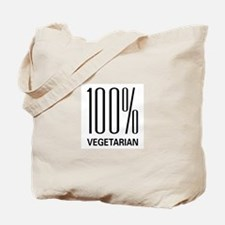 100% Vegetarian Tote Bag