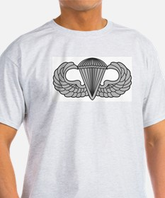 Airborne Paratrooper Jump Wings Ash Grey T-Shirt