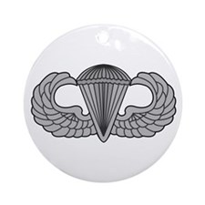Airborne Paratrooper Jump Wings Ornament (Round)