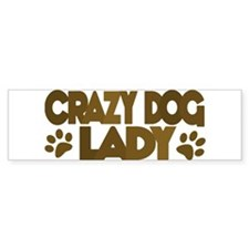 Crazy Dog Lady Bumper Bumper Sticker