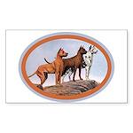 Three Great Danes Rectangle Sticker 50 pk)