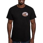 Three Great Danes Men's Fitted T-Shirt (dark)