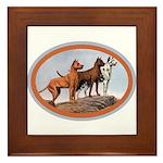 Three Great Danes Framed Tile