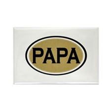 Papa Oval Rectangle Magnet (10 pack)