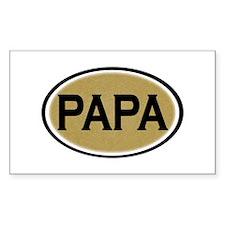 Papa Oval Rectangle Sticker 10 pk)