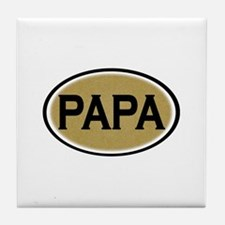 Papa Oval Tile Coaster