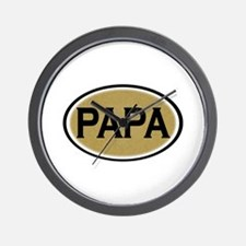 Papa Oval Wall Clock