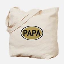 Papa Oval Tote Bag