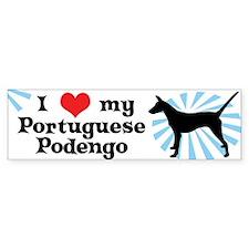 I Love My Portuguese Podengo Bumper Sticker Smooth