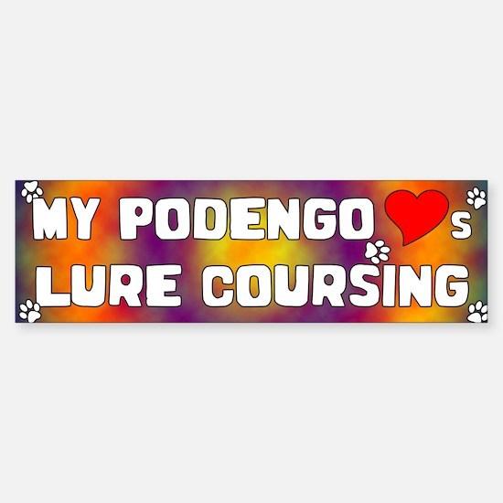 Podengo Loves Lure Coursing Bumper Bumper Bumper Sticker