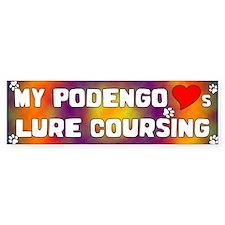 Podengo Loves Lure Coursing Bumper Bumper Sticker