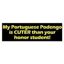 Cuter Portuguese Podengo Bumper Bumper Sticker