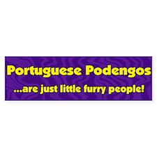 Furry People Portuguese Podengo Bumper Bumper Sticker