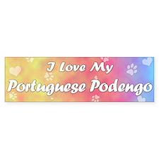 Pastel Love Portuguese Podengo Bumper Bumper Sticker