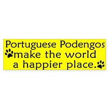 Happy Place Portuguese Podengo Bumper Bumper Sticker